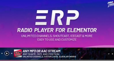 Download Erplayer  v1.0.4 - Radio Player for Elementor Free / Nulled