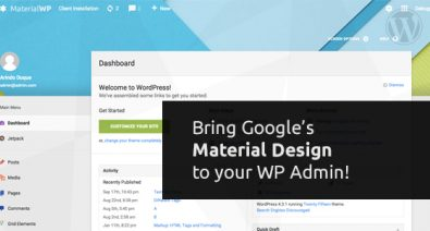 Download Material WP v1.1.5 - Material Design Dashboard Theme Free / Nulled