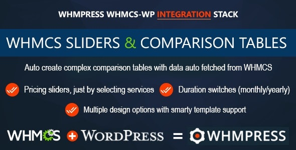 Download WHMCS Pricing Sliders and Comparison Tables v4.5.3 - WHMpress Addon Free / Nulled