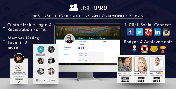 Download UserPro v4.9.37 - User Profiles with Social Login Free / Nulled