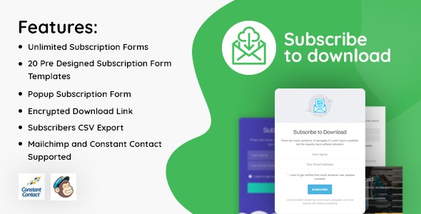Download Subscribe to Download v1.1.1 - An advanced subscription plugin for WordPress Free / Nulled