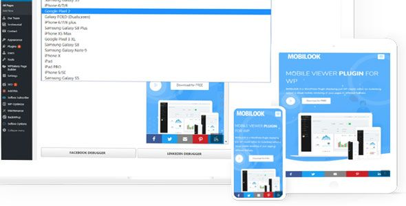 Download Mobilook Pro  v1.1.0 - Mobile Viewer Plugin For WP Free / Nulled