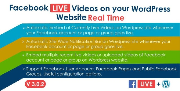 Download Facebook Live Video Auto Embed v3.0.1 - for WordPress Free / Nulled