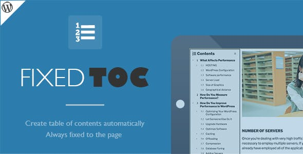 Download Fixed TOC  v3.1.17 - table of contents for WordPress plugin Free / Nulled