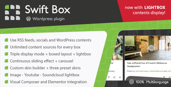 Download Swift Box v2.22 - Wordpress Contents Slider and Viewer Free / Nulled