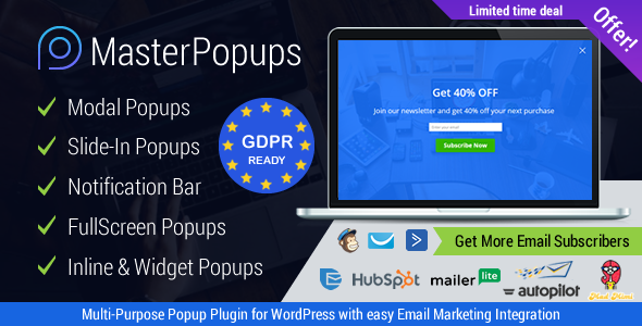 Download Master Popups v3.3.4 - Popup Plugin for Lead Generation Free / Nulled