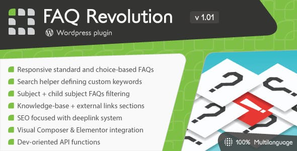 Download FAQ Revolution v1.04 - WordPress Plugin Free / Nulled