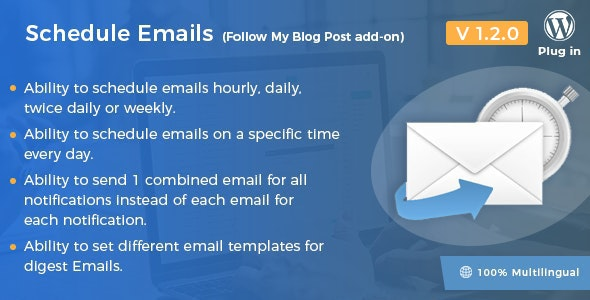 Download Schedule Emails v1.2.0 - Follow My Blog Post add-on Free / Nulled