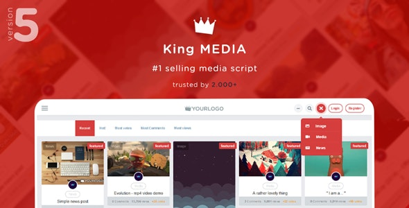 Download King Media v5.2 - Viral Magazine News Video - nulled Free / Nulled