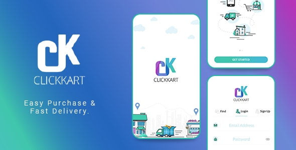 Download Clickkart v1.0 - Multi Vendor Shopping Android App Free / Nulled