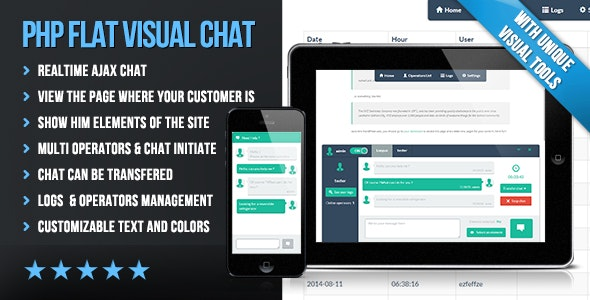 Download PHP Flat Visual Live Chat v4.20 - Nulled Free / Nulled