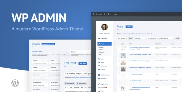 Download wphave Admin v2.1 - A clean and modern WordPress Admin Theme Free / Nulled