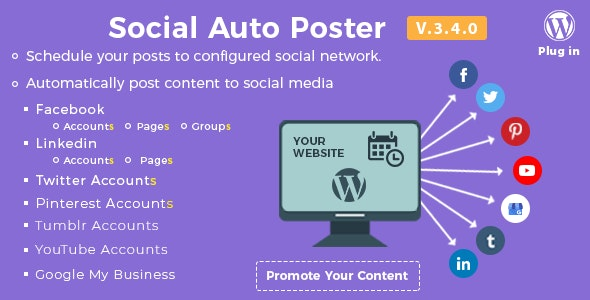 Download Social Auto Poster v3.4.0 - WordPress Plugin Free / Nulled