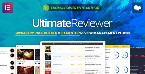 Download Ultimate Reviewer v2.5.2 - Elementor & WPBakery Page Builder Addon Free / Nulled