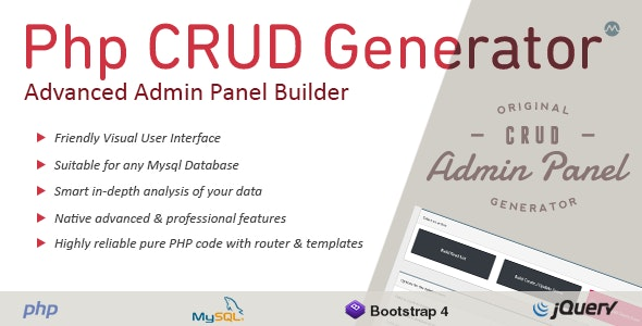 Download PHP CRUD Generator v1.7.7 - nulled Free / Nulled