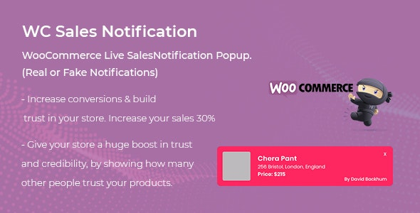 Download WooCommerce Live Sales Notification Pro v1.0.1 - WooCommerce plugin Free / Nulled