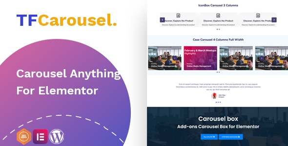 Download TfCarousel v1.0.0 - Carousel Anything For Elementor Free / Nulled