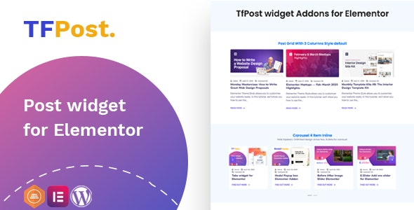 Download TfPost v1.0.1 - Post widget Addons for Elementor Free / Nulled