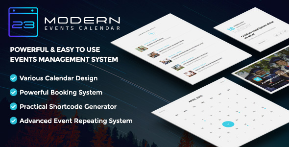 Download Modern Events Calendar v5.3.5 - Responsive Event Scheduler Free / Nulled