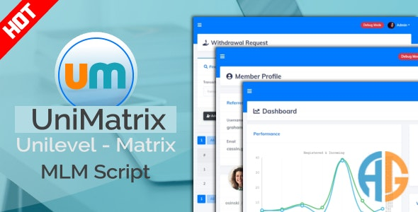Download UniMatrix Membership v1.2.2 - MLM Script Free / Nulled