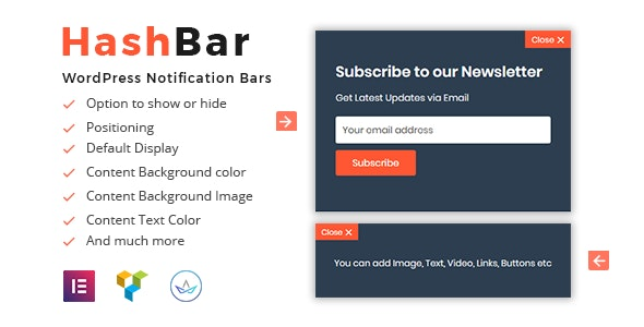 Download HashBar Pro v1.1.5 - WordPress Notification Bar Free / Nulled