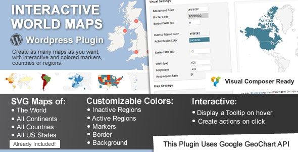 Download Interactive World Maps v2.4.8 - WP Plugin Free / Nulled