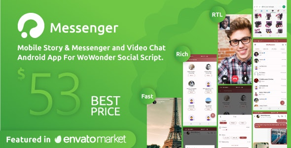 Download WoWonder Android Messenger v2.8 - Mobile Application for WoWonder Social Script Free / Nulled