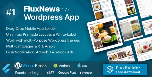 Download FluxNews  v1.2.2 - Flutter mobile app for Wordpress Free / Nulled