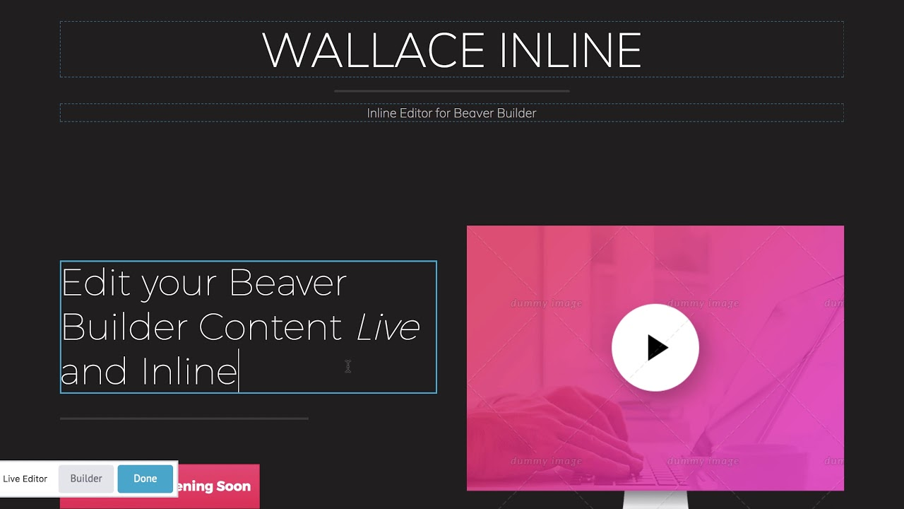 Download Wallace Inline v2.2.16 - Front-end editor for Beaver Builder Free / Nulled
