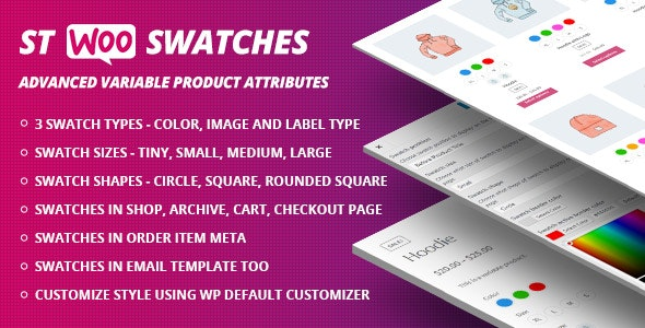 Download WooCommerce Swatches  v1.1.0 - (Color, Image and Label Swatch) Free / Nulled