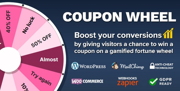 Download Coupon Wheel For WooCommerce and WordPress v3.2.0 - WooCommerce plugin Free / Nulled