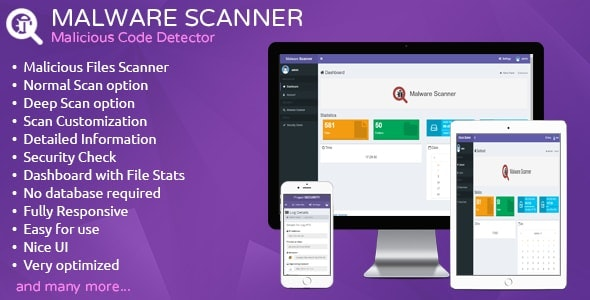 Download Malware Scanner  v1.2 - Malicious Code Detector Free / Nulled