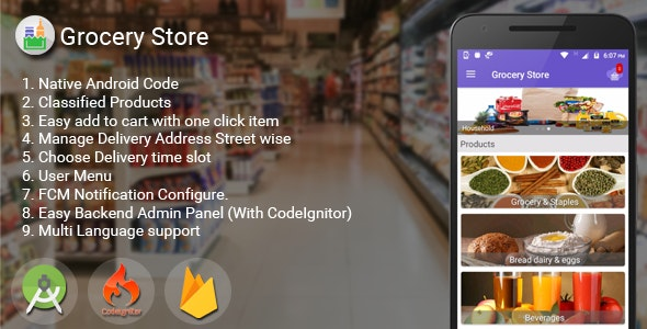 Download Grocery Store Android App  v1.6 - Mobile App Free / Nulled
