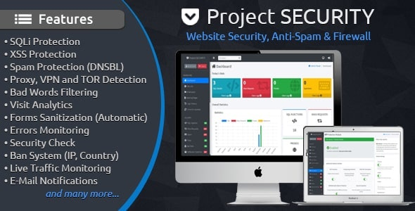 Download Project SECURITY v4.1 - Website Security, Anti-Spam & Firewall Free / Nulled