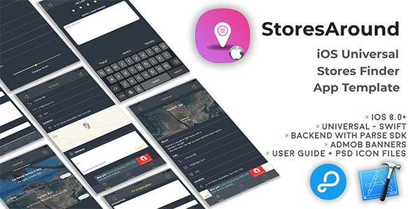 Download StoresAround v29 july 2019 - iOS Universal Store Finder App Template (Swift) Free / Nulled