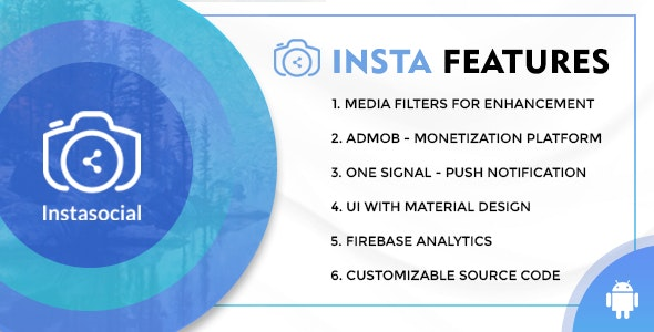 Download Instasocial v1.0 - An Instagram like social media app with creative filters and editing tools Free / Nulled