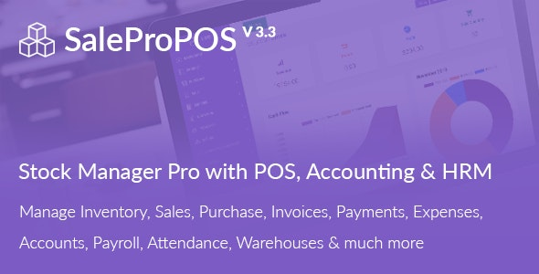 Download SalePro v3.3 - Inventory Management System with POS, HRM, Accounting - nulled Free / Nulled