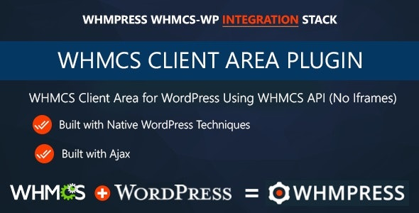 Download WHMCS Client Area for WordPress by WHMpress v3.4.1 - WP Plugin Free / Nulled