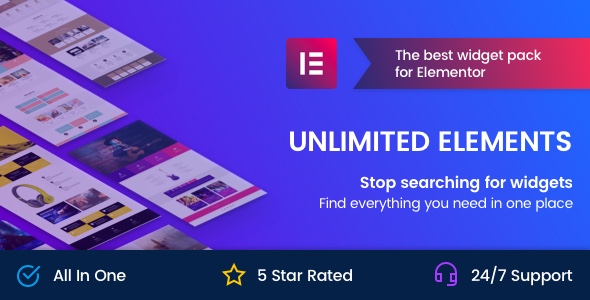 Download Unlimited Elements for Elementor Page Builder v1.4.32 - WP Plugin Free / Nulled