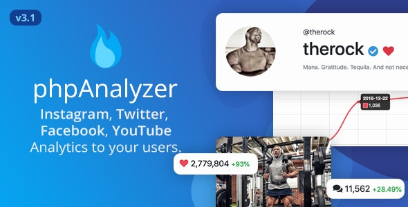Download phpAnalyzer v3.1.4 - Social Media Analytics Statistics Tool ( Instagram, Twitter, YouTube, Facebook ) Free / Nulled