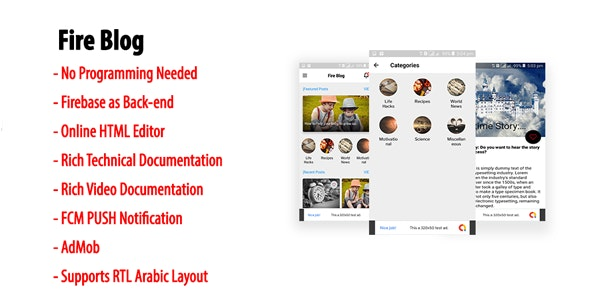 Download Fire Blog v1.3 - Native Android Blog or News App with Firebase Back-end Free / Nulled