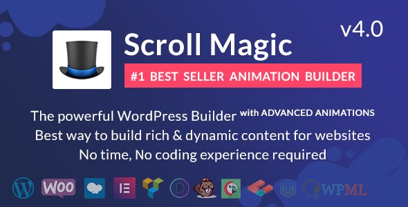Download Scroll Magic  v4.0.1 - Scrolling Animation Builder Plugin Free / Nulled