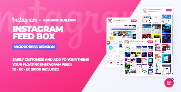 Download Instagram Feed Box v1.0.0 - WordPress Plugin Free / Nulled