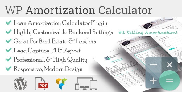 Download WP Amortization Calculator v1.5.2 - WP Plugin Free / Nulled