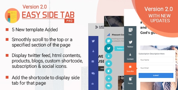 Download Easy Side Tab Pro v2.0.5 - Responsive Floating Tab Plugin For Wordpress Free / Nulled