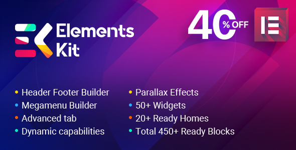Download ElementsKit v1.4.8 - The Ultimate Addons for Elementor Page Builder Free / Nulled