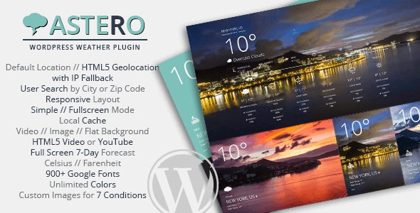 Download Astero WordPress Weather Plugin v2.0 - WP Plugin Free / Nulled