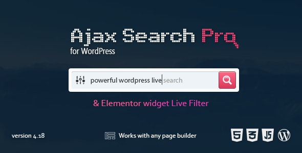 Download Ajax Search Pro for WordPress v4.18.5 - WP Plugin Free / Nulled