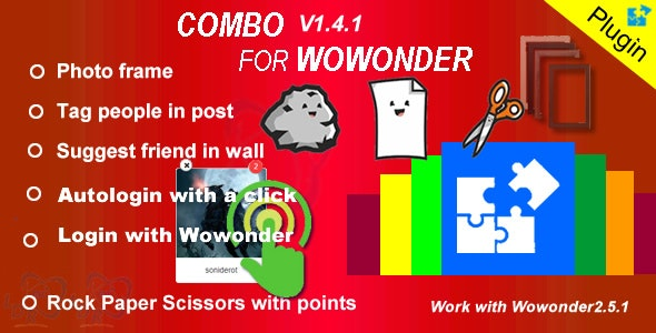 Download Plugin Combo For Wowonder v05.05.2020 - Nulled Free / Nulled