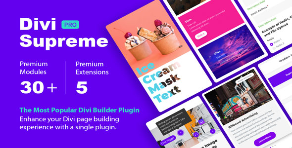 Download Divi Supreme Pro v2.9.8 - WP Plugin Free / Nulled